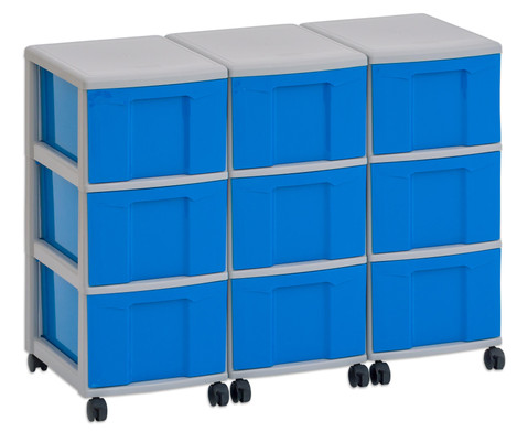 Flexeo Container-System 3 Reihen 9 grosse Boxen HxBxT 66x90x38 cm-5
