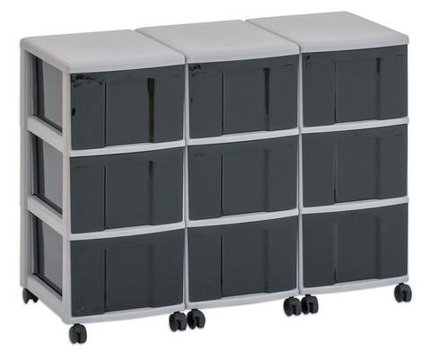 Flexeo Container-System 3 Reihen 9 grosse Boxen HxBxT 66x90x38 cm-6