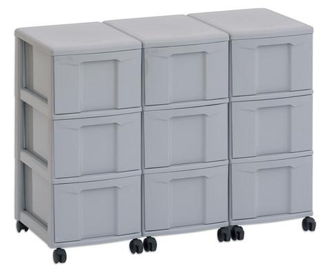 Flexeo Container-System 3 Reihen 9 grosse Boxen HxBxT 66x90x38 cm-7
