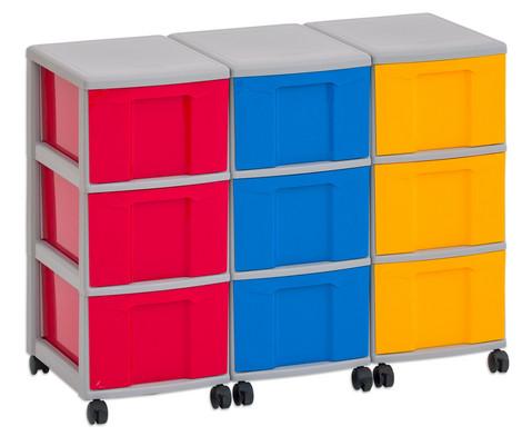 Flexeo Container-System 3 Reihen 9 grosse Boxen HxBxT 66x90x38 cm-8