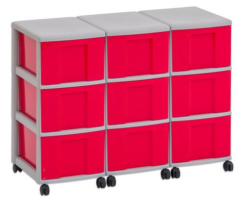 Flexeo Container-System 3 Reihen 9 grosse Boxen HxBxT 66x90x38 cm-9