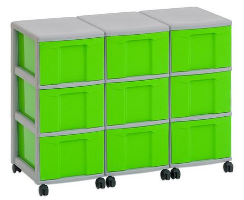 Flexeo Container-System 3 Reihen 9 grosse Boxen HxBxT 66x90x38 cm-22