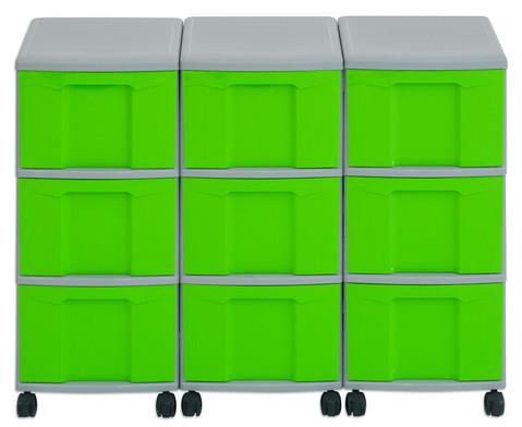Flexeo Container-System 3 Reihen 9 grosse Boxen HxBxT 66x90x38 cm-23
