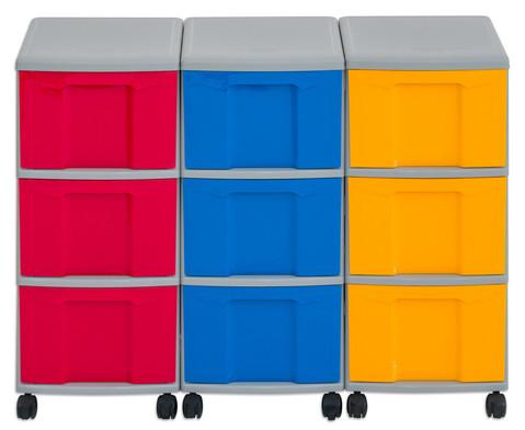 Flexeo Container-System 3 Reihen 9 grosse Boxen HxBxT 66x90x38 cm-19