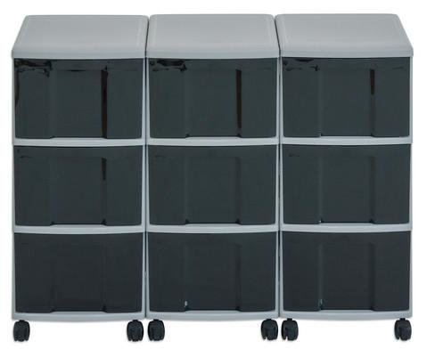 Flexeo Container-System 3 Reihen 9 grosse Boxen HxBxT 66x90x38 cm-13