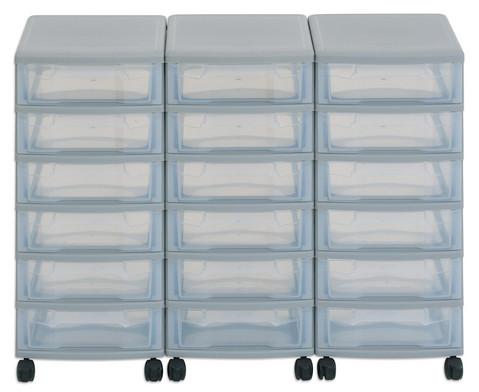 Flexeo Container-System 3 Reihen 18 kleine Boxen