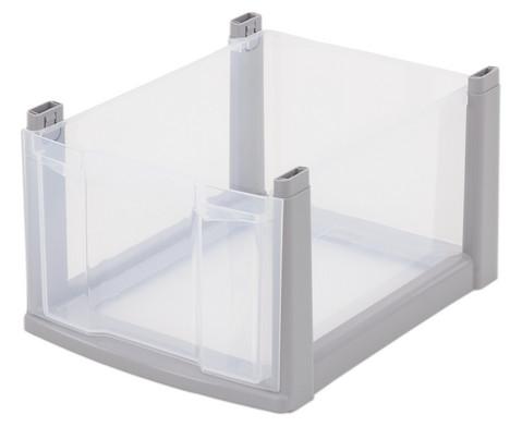 Flexeo Box grauer Rahmen gross transparent-1