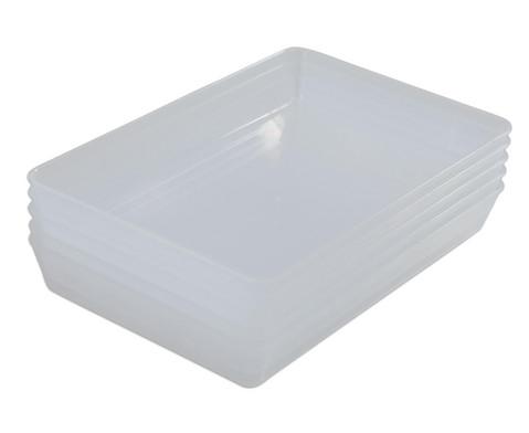 Kleine klar-transparente Materialschalen
