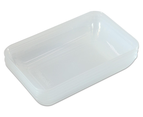 Transparent-klare Materialschalen gross 5 Stueck-1