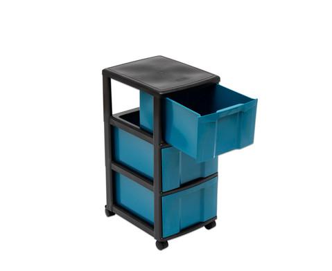 treeNside Rollcontainer mit 3 grossen Boxen