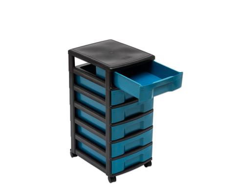treeNside Rollcontainer mit 6 kleinen Boxen