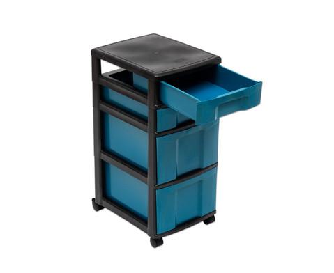 treeNside Rollcontainer mit 2 kleinen und 2 grossen Boxen