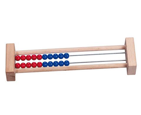 Betzold Rechenrahmen mit 20 Perlen blau-rot