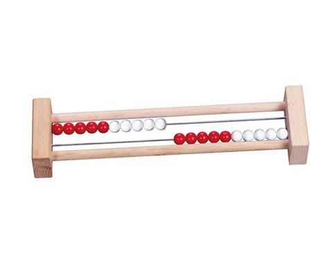 Rechenrahmen mit 20 Perlen rot-weiss-2