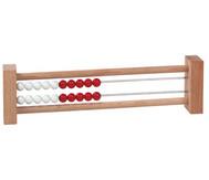 Rechenrahmen mit 20 Perlen rot/weiß
