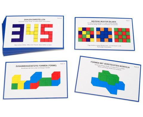 Arbeitskarten Farbige Wuerfel-1