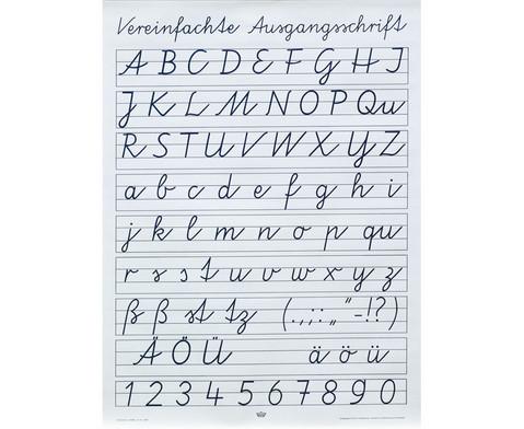 Poster Vereinfachte Ausgangsschrift-1