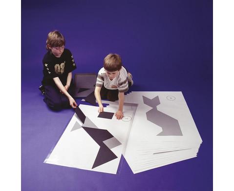 Riesen-Tangram-Teile aus Kunststoff schwarz in Box-2
