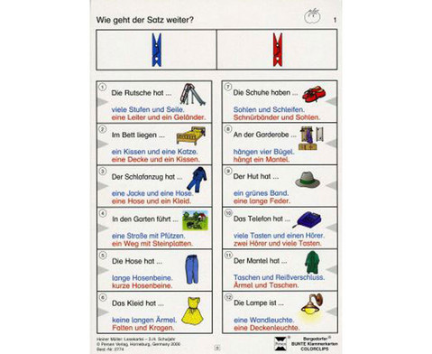 Colorclip Lesekartei 2 3-4 Schuljahr-1