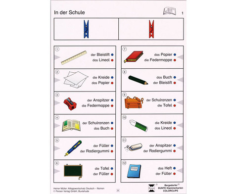 Colorclip Alltagswortschatz Deutsch - Nomen