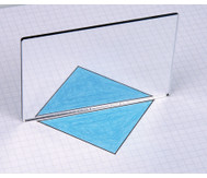 Geometriespiegel aus Kunstglas, einzeln