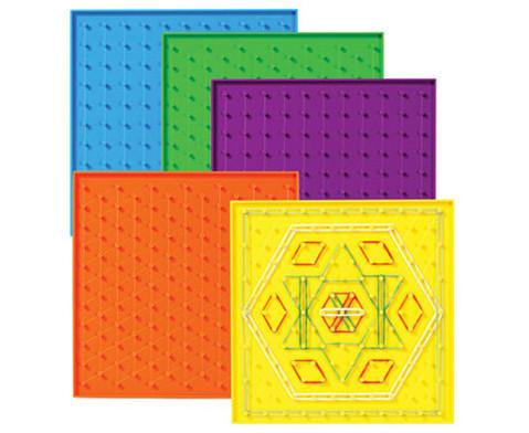 Satz mit 6 doppelseitigen Geometriebrettern-1
