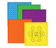 Satz mit 6 doppelseitigen Geometriebrettern