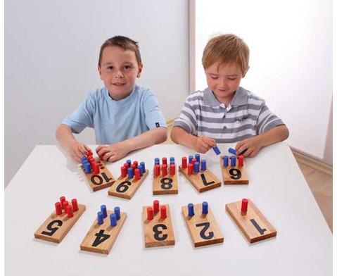 Zahlenstecktafeln aus Holz-2