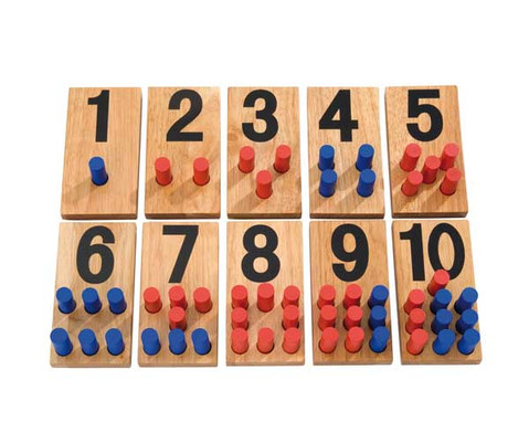 Zahlenstecktafeln aus Holz-1