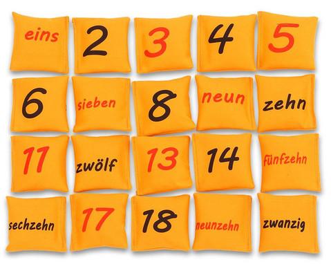 Zahlen auf Bohnensaeckchen-1