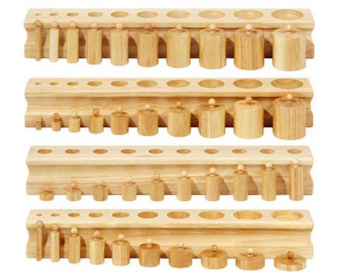 Betzold Bloecke mit Einsatz-Zylindern 4 Stueck