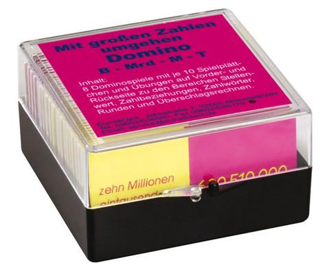 Dominospiele - Mit grossen Zahlen umgehen
