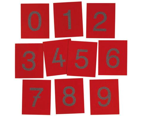 Fuehl- und Tastplatten Ziffern