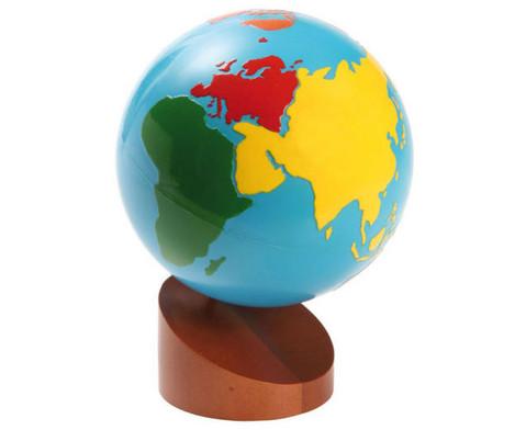 Globus mit Erdteilen in Farbe-2