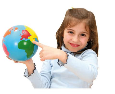 Globus mit Erdteilen in Farbe-3