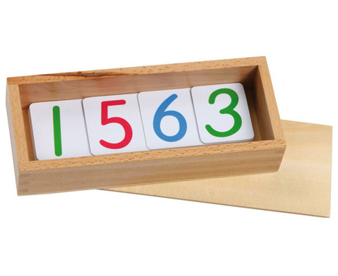 Zahlenkarten aus Kunststoff-1