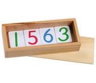 Zahlenkarten aus Kunststoff
