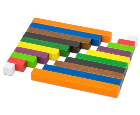 Kleiner Satz mit farbigen Staeben