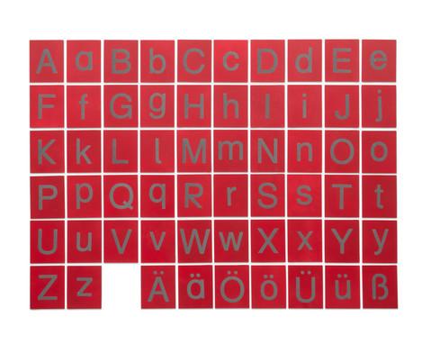 Fuehl- und Tastplatten Gross- und Kleinbuchstaben