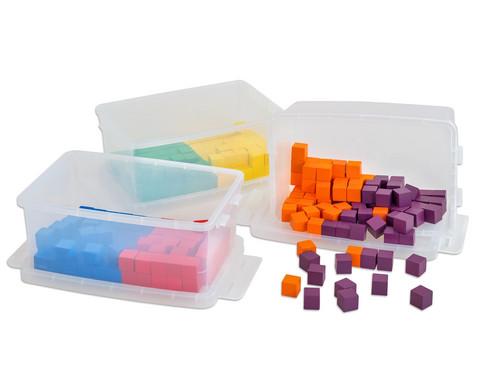 Klassensatz mit 300 Wuerfeln und 3 Kunststoff-Boxen