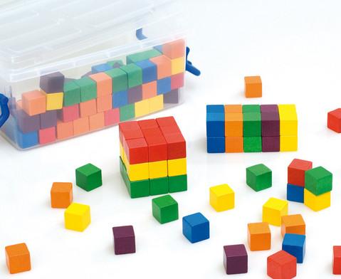 Klassensatz mit 300 Wuerfeln und 3 Kunststoff-Boxen-1
