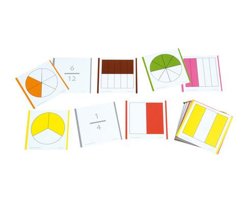 Farbige Bruchrechenkarten 115 Stueck-2