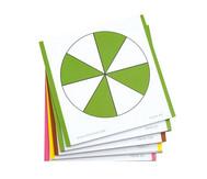 Farbige Bruchrechenkarten, 115 Stück