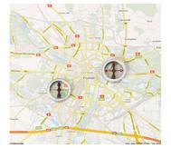 Einzelner Kompass  mit Fadenkreuz
