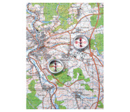 Einzelner Kompass: Mit Himmelsrichtungen