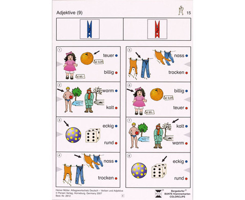 Colorclip Alltagswortschatz Deutsch - Verben-Adjektive-1