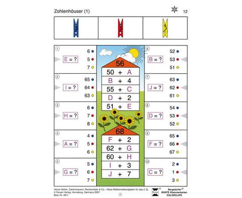 Colorclip Zahlenmauern Zahlenhaeuser Rechenraeder ZR 100