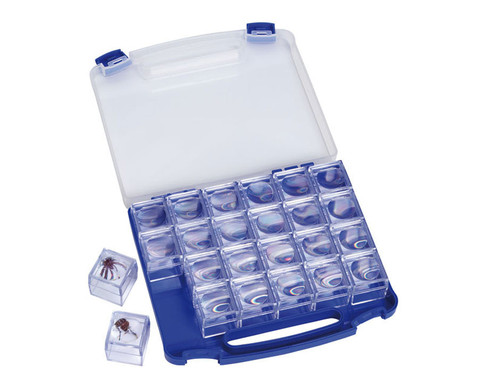 Klassensatz 24 Vitrinen-Lupen im Koffer