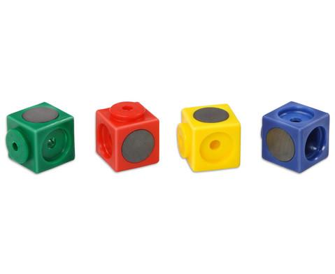 Riesensteckwuerfel 20 Stueck magnetisch 4 Farben