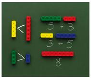 Riesensteckwürfel, 20 Stück, magnetisch, 4 Farben